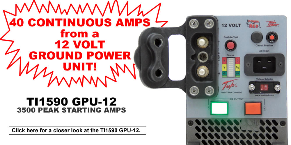 40 Continuous amps from a 12 volt Ground Power Unit
